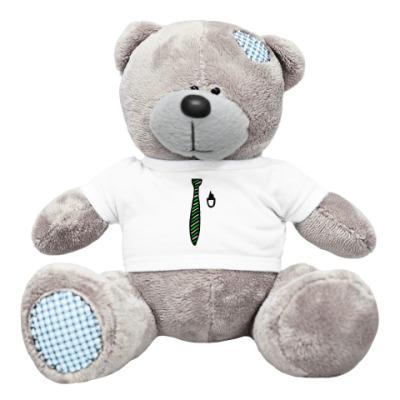 Плюшевый мишка Тедди галстук