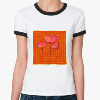 Женская футболка Ringer-T Маки