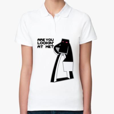 Женская рубашка поло Enderman