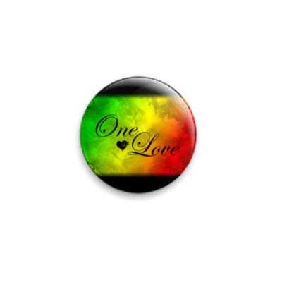 Значок 25мм reggae