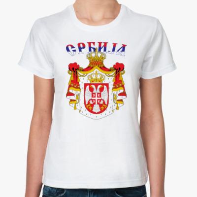 Классическая футболка Большой герб Сербии