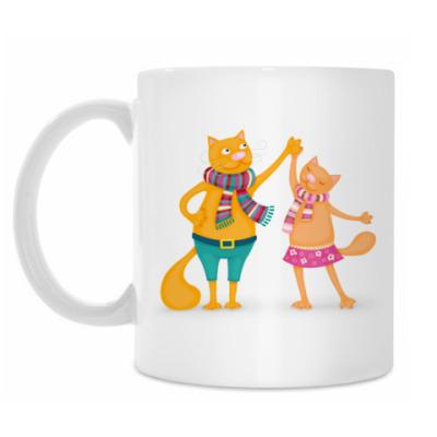 Кружка Танцующие коты