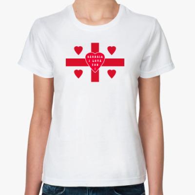 Классическая футболка '5 сердец Грузии'