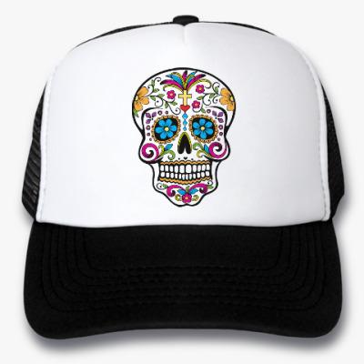Кепка-тракер Мексиканский череп Calavera