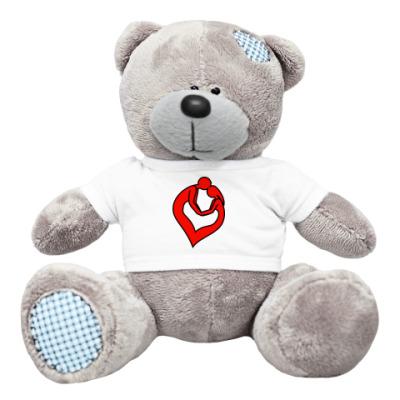 Плюшевый мишка Тедди пара сердце