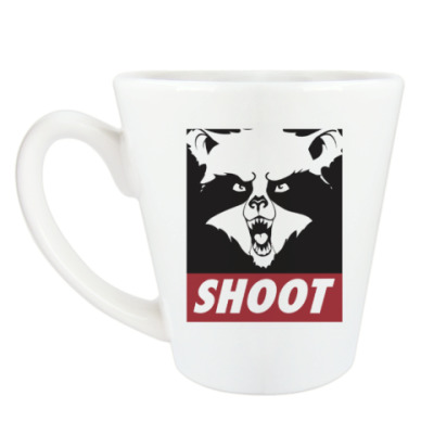 Чашка Латте Raccoon Shoot
