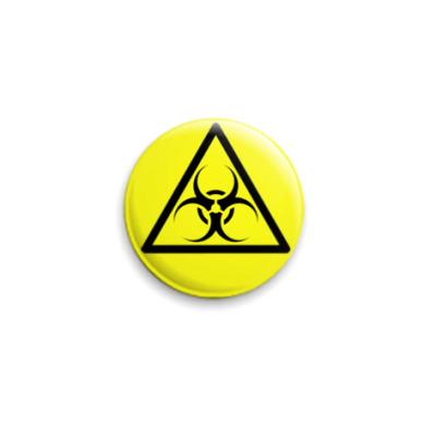 Значок 25мм Biohazard