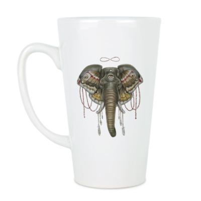 Чашка Латте Индийский слон