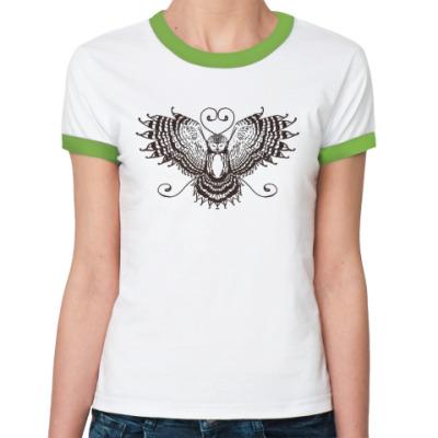 Женская футболка Ringer-T пернатый друг