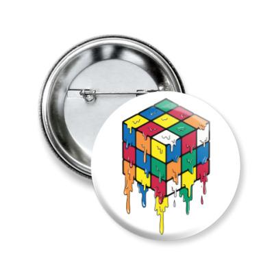 Значок 50мм Кубик Рубика | Спидкубинг