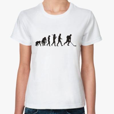 Классическая футболка Хоккейная эволюция