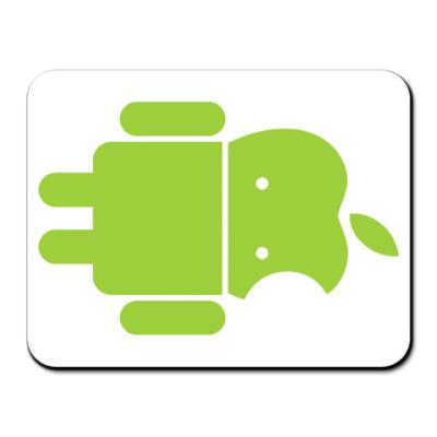Коврик для мыши Андроид голова-яблоко