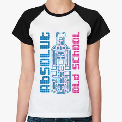 Женская футболка реглан Absolut  Ж(бел/чёрн)