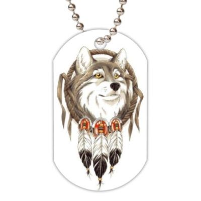 Жетон dog-tag Волк
