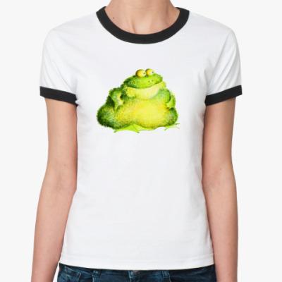 Женская футболка Ringer-T Грудная жаба