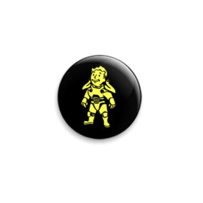 Значок 25мм vault-boy силовая броня