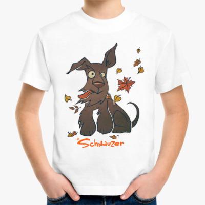 Детская футболка Осенний шнауцер