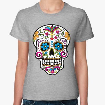 Женская футболка Мексиканский череп Calavera
