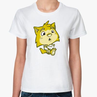 Классическая футболка 'Кот-психо'