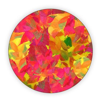 Костер (подставка под кружку) Осенние листья