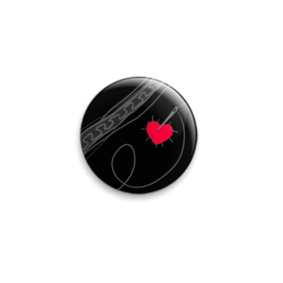 Значок 25мм 'heart'