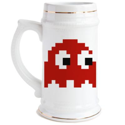 Пивная кружка Pacman Blinky