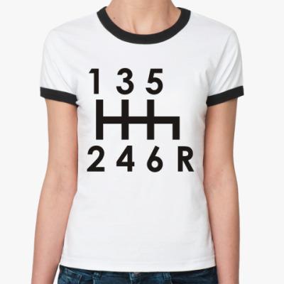 Женская футболка Ringer-T Коробка передач