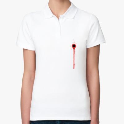 Женская рубашка поло Ранена в сердце