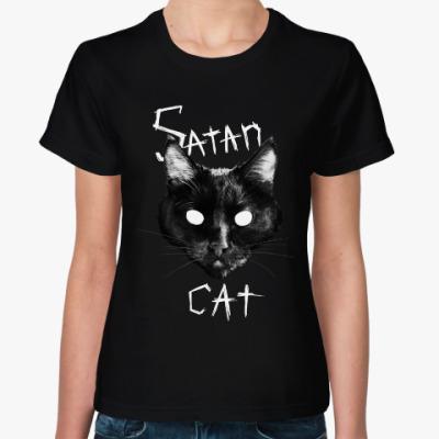 Женская футболка Satan Cat