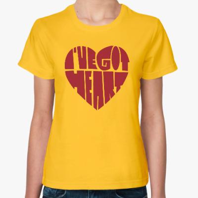 Женская футболка У меня есть сердце