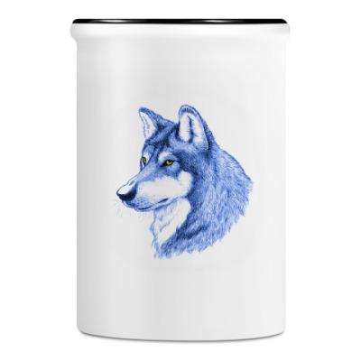 Подставка для ручек и карандашей Волк