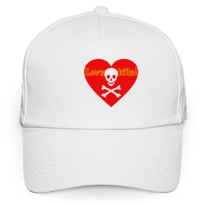 Кепка бейсболка Love kills!