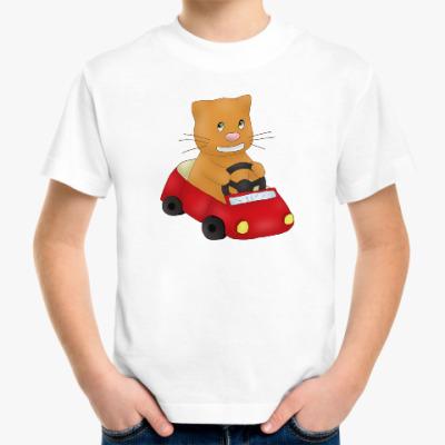 Детская футболка Пухлик-водитель