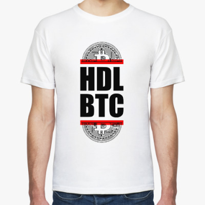 Футболка Bitcoin BTC HDL Red line!