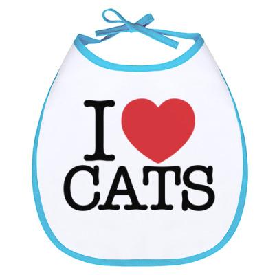 Слюнявчик я Люблю кошек