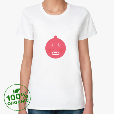 Женская футболка из органик-хлопка «Горячая»