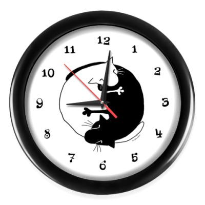 Настенные часы  Инь-Ян