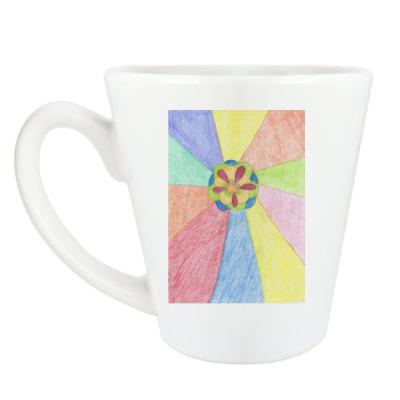 Чашка Латте 'Цветок'