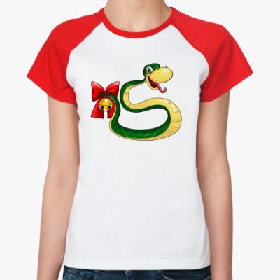 Женская футболка реглан Змейка