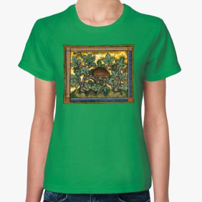 Женская футболка Ежик в винограде