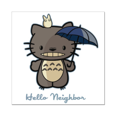 Наклейка (стикер) Hello Totoro