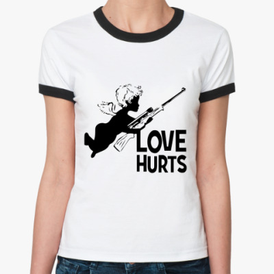 Женская футболка Ringer-T Love hurts