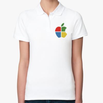 Женская рубашка поло Яблоко Виндоус