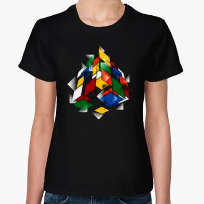 Женская футболка Кубик Рубика