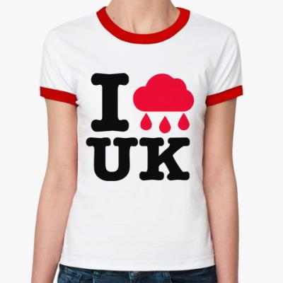 Женская футболка Ringer-T   Англия