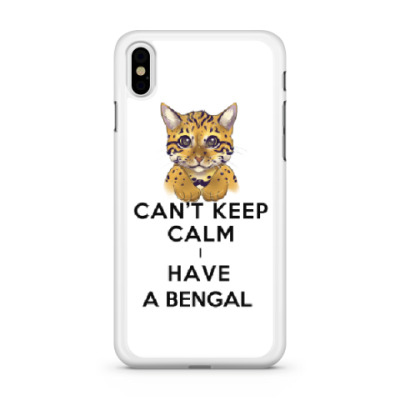 Чехол для iPhone Can't keep calm i have a bengal