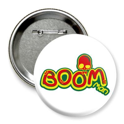Значок 75мм Boom Man