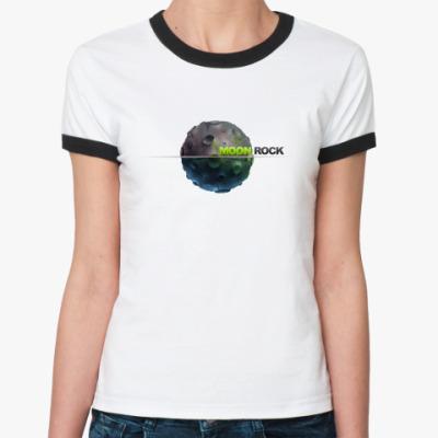 Женская футболка Ringer-T Moon Rock