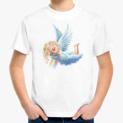 Детская футболка Ангел и радуга