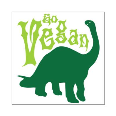 Наклейка (стикер) Go Vegan